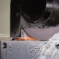 Surface grinding operation of mould plates.